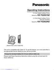 Panasonic KX-TG2622NZ Operating Instructions Manual