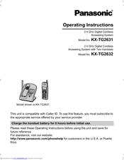 panasonic kx tg2631 operating instructions manual pdf download rh manualslib com