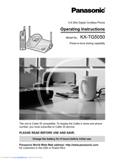 Panasonic KX-TG5050 Operating Instructions Manual