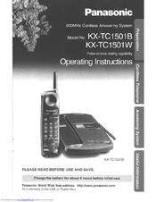 panasonic kxtc1501w user manual pdf download rh manualslib com manual do telefone panasonic kx-tc1468lbb