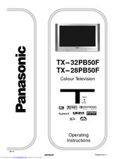Panasonic TX-32PB50F, TX-28PB50F Operating Instructions Manual