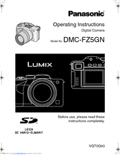 Panasonic DMC-FZ5GN Operating Instructions Manual