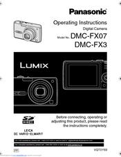 panasonic lumix dmc fx3 manuals rh manualslib com FX3 Roblox Trek FX3