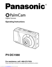 Panasonic PalCam PV-DC1580 Operating Instructions Manual