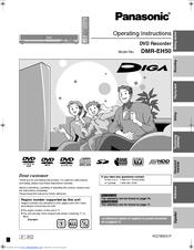 panasonic diga dmr eh50 operating instructions manual pdf download rh manualslib com panasonic dvd recorder dmr-eh50 user manual panasonic dmr eh50 manual pdf