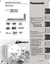 panasonic diga dmr ex77 manuals rh manualslib com panasonic dmr-ex77 ex87 service manual panasonic dmr ex77 manual