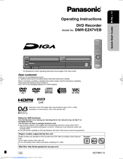 panasonic diga dmr ez47veb manuals rh manualslib com Panasonic DVD VHS Recorder Manual Panasonic DVD Recorder VHS Combo