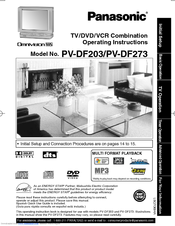 panasonic omnivision vhs pv df203 manuals rh manualslib com Amazon Panasonic TV VCR Combo Panasonic TV VCR DVD Combo