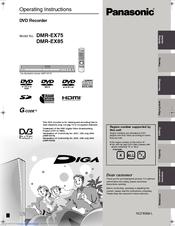 panasonic dmr ex85 manuals rh manualslib com Panasonic DVD Recorder with Tuner Panasonic DVD Recorder DMR E65