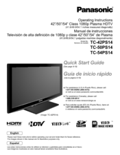 Panasonic       TC   54PS14  541  Plasma TV Manuals