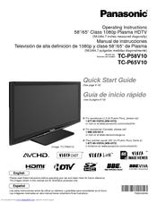 Panasonic TC P50G10 Manuals