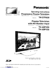 Panasonic Tv Meubel.Panasonic Th 37pa30 Operating Instructions Manual Pdf Download