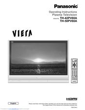 Panasonic       TH   42PV60A Manuals