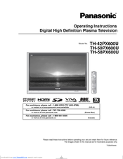 panasonic th 58px600u manuals rh manualslib com Panasonic.comsupportbycncompass panasonic th-58px600u service manual