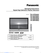 panasonic th 58px60u manuals rh manualslib com Panasonic TV Manual panasonic th-58px600u service manual