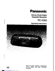Panasonic RC-X260 Operating Instructions Manual