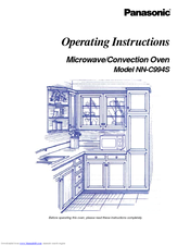 Panasonic Nnc994s Genius Prestige Convection Microwave Oven Operating Instructions Manual