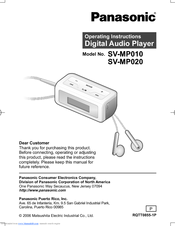 Panasonic SV-MP020W Operating Instructions Manual