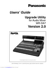 Panasonic RAMSA WR-DA7 User Manual