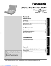 Panasonic Toughbook CF-19KHRC62M Operating Instructions Manual