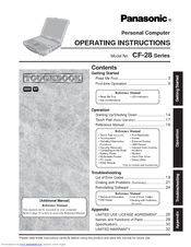 Panasonic CF-28 Operating Instructions Manual