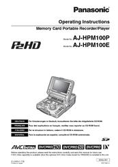 Panasonic AJ-HPM100P Operating Instructions Manual