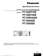 Panasonic PT-D5000E Operating Instructions Manual