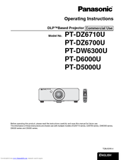 Panasonic PT-D6000U Operating Instructions Manual