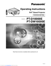 Panasonic PT-DW10000E Operating Instructions Manual