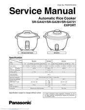 panasonic srga721 rice cooker multi language manuals rh manualslib com Rice Cooker Instruction Manual Rice Cooker with Timer Manuals