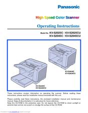 panasonic kv s2026c document scanner manuals rh manualslib com Panasonic Driver Panasonic Document Scanner