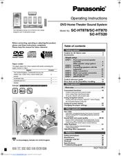 Panasonic    SCHT870 Manuals