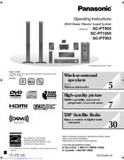 panasonic scpt950 dvd home theater sound system manuals rh manualslib com Repair Panasonic 5.1 Home Theater Panasonic AV Receiver