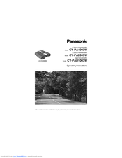 Panasonic CY-PA4003W Operating Instructions Manual