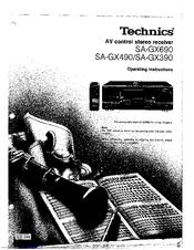 Technics sa-gx690 av control stereo receiver service manual inc.