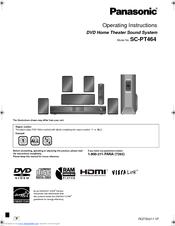 panasonic sapt464 dvd home theater sound system manuals rh manualslib com panasonic theater system setup panasonic universal remote control theater system manual