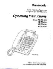 Pdf manual for panasonic telephone kx-t7433.