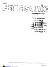 Panasonic TC-14SV10S Operating Instructions Manual