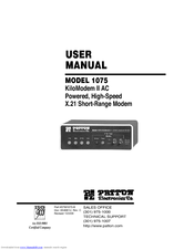 Patton electronics KiloModem II 1075 User Manual