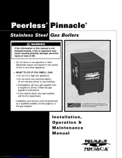 peerless pinnacle pi-140 installation & maintenance manual (47 pages)   stainless steel gas boiler