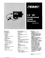 Peavey LX 20 Specifications