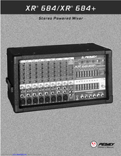 Peavey xr 684f user manual | page 41 / 64 | original mode | also.