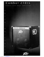 Peavey Combo 210TX Operating Manual