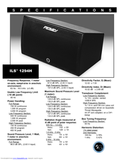Peavey ILS 1294H Specification Sheet