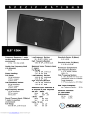 Peavey ILS 1564 Specifications