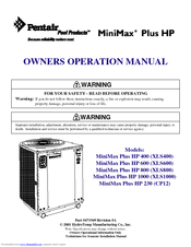Manuals And User Guides For Pentair Minimax Plus Hp 400 We Have 1 Manual Available Free Pdf Owner S Operation