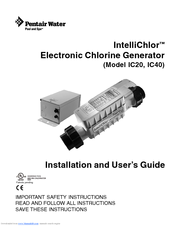 Pentair Intellichlor Ic40 Manuals