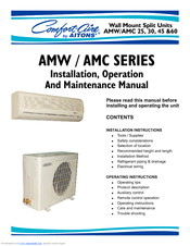 Philips Comfort-Cire AMW Installation, Operation And Maintenance Manual