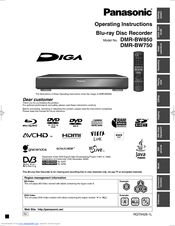 Panasonic DIGA DMR-BW750 Operating Instructions Manual