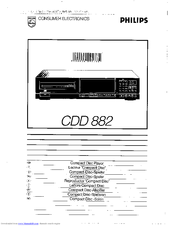 Philips CDD882 User Manual